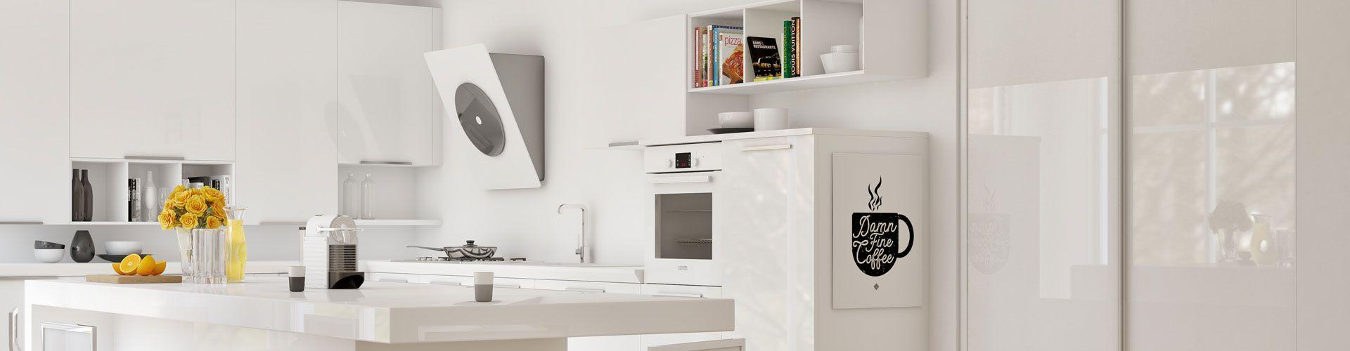 portes de placard blanches d cor et verre laqu kazed. Black Bedroom Furniture Sets. Home Design Ideas