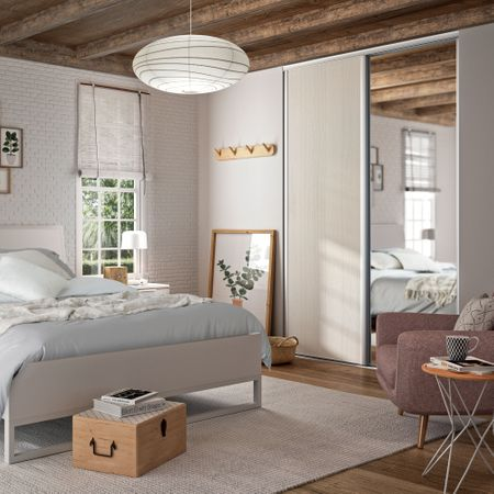 fa ade de placard coulissante 3 portes d cor c rus blanc. Black Bedroom Furniture Sets. Home Design Ideas